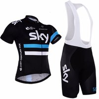 ingrosso capo americano della bici-2017 SKY Team Pro Cycling Jersey + Bib Shorts Ciclismo Set. Abbigliamento da ciclismo da uomo Abbigliamento da ciclismo Camicie da ciclismo Ropa Ciclismo Mtb, D015