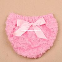 Wholesale Tutus Bebe - 2016 NEW bebe Bow Ruffle Bloomers Girls Diaper Cover Tutu Rose Ruffled Panties Newborn Photo Props Shorts Birthday Gift
