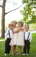 Wholesale Cheap Pageant Dresses Chiffon Style - Simple Flower Girl Dresses 2016 Country Fashion Style Pageant Dresses For Little Girls Knee Length Cheap Chiffon Tulle Kids Evening Gowns