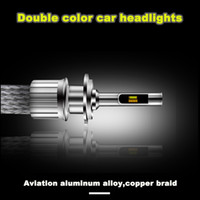 Compra Luci Di Nebbia Colore-2X Due colori KS LED Car Styllight Source 45W 5500LM 6000K IP68 H1 H3 H4 H7 H11 H13 9004 9005 9006 9007 Fendinebbia anteriore