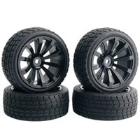 Wholesale Rc Tyres - 4 x RC 601-8005 Offset:6mm Flat Racing Tires Tyre Wheel Rim Fit 1:10 On-Road Car