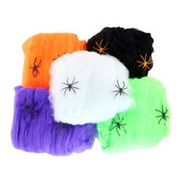 halloween party favor event party supplies wholesale funny stretchable plastic spider web halloween party - Cheapest Halloween Decorations
