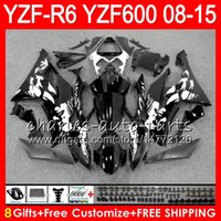 Wholesale 12 R6 Fairings - Body For YAMAHA Graffiti blk YZF600 YZFR6 08 09 10 11 12 15 YZF-R600 60NO10 R 6 YZF 600 YZF-R6 YZF R6 2008 2009 2010 2011 2012 2015 Fairing