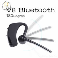 Wholesale Earhook Earphones - V8 Voyager Bluetooth Headset Handfree Bluetooth V4.0 Earhook Voice Control HeadPhone for Iphone 7 Samsung S7 Legend Wirless Earphone