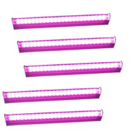 25pcs LED Grow Light para planta T5 LED Tube Integration 1ft / 2ft / 3ft / 4ft Full Spectrum Pink Color para sistema hidropônico