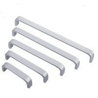 Wholesale door handle bar resale online - Modern Doorknob Space Aluminum Alloy Door Handle For Furniture Cupboard Cabinet Drawer Pull Knob Smooth Feel Good Bar Handles Simple yt