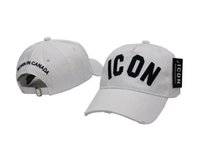 Wholesale Icon Logo - 2017 New Styles Top Cap Baseball Adjustable Sunless Caps Snapback Black Hat Men Women ICON Embroidery Logo Hat Free Shipping