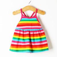 bebek kızı elbiseleri toptan satış-Toptan-2017 Yeni Moda En Kaliteli Bebek Elbise Sevimli Prenses Elbise Bebek Kız Kolsuz Düşük Fiyat Serin Yaz Elbise H8P6