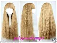 Wholesale Cosplay Lolita Wigs White - New wig Cosplay lolita fashion Japanese Harajuku Screw heat resistant Wig