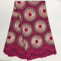 Wholesale Wine Colored Lace Fabric - African swiss voile lace fabric 2017 high quality Wine wedding lace African Fabric Cotton Swiss Voile Lace In Switzerlan PL-888