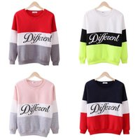 Wholesale Different Size Women - Fashion Autumn winter women Long Sleeve hoodies printed letters Different women casual sweatshirt hoody sudaderas Plus Size S-2XL