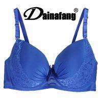 Wholesale Soutien Bra - 40 90 42 95 44 100 D DD E Large Cup Bras For Women Sexy Push Up Blue soutien gorge marque France bandeau Brand girls underwear