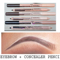 Wholesale eyebrow concealer - New Hot 48pcs lot maquiagem eye brow Menow makeup Double Function Eyebrow Pencils & Concealer Pencils maquillaje