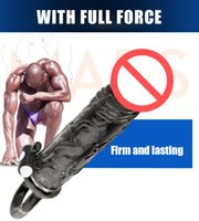 Wholesale Thicker Penis - Black Knight Men Shake Pencil Crystal Set Lengthened and Thicker Prolonged Time lasting Fighting Penis Sets Adult toys For Men
