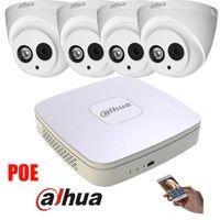 Wholesale Ipc Systems - Original english Dahua 4MP POE IP Camera DH-IPC-HDW4421C System Security Camera Outdoor 8CH 1080P NVR4104-P Kit H.264 Recorder