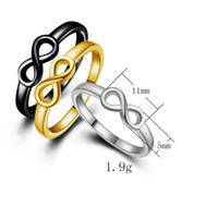 Wholesale Means Ring - 2017 NEW Personality infinity ladies ring Silver black gold love meaning Valentine's Day ring Wedding Christmas jewelery L43