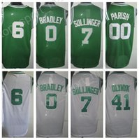 Jóias de basquete masculinas 2017 baratos 0 Avery Bradley 6 Bill Russell 41 Kelly Olynyk 00 Robert Parish Jersey Green White Stitched Wholesale