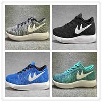 Wholesale Men Free Trainer Running Shoes - 2017 Original Men Women Rio LunarEpic Low Sports Shoes Lunar Free Run Running Shoes Mesh Knit Trainer Sneakers Size 36-45