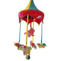 Wholesale Baby Songs Animals - Wholesale- SHILOH Hot Sale New Musical Mobile Rotating Infant Mobile Baby Plush Toy Bed Wind Chime Rattles Stroller Newborn 60 Songs Circus