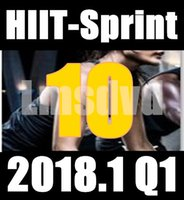 Top-sale 2018.1 Gennaio Q1 New Routine SPRINT 10 HIIT 30 Minuti Esercizio Fitness Bicicletta Indoor SPRINT10 SP10 DVD video + musica CD