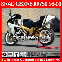 Wholesale Lucky Strike 96 Gsxr - 8 Gifts 23 Colors For SUZUKI SRAD GSXR750 GSXR600 96 97 98 99 00 5HM0 GSX R600 GSXR 600 750 1996 1997 1998 1999 2000 Lucky Strike Fairing