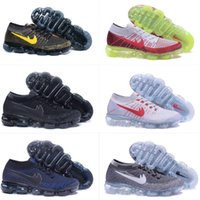 Wholesale Day Night Tops - (With Box) VAPORMAXES 2018 MEN Running Shoes Day to Night Dark Grey Triple Blackm Mens Sport Shoes Man Training Shoes Top Quality 36-46