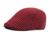 Wholesale Newsboy Beret Cap Free Shipping - Adult Unisex Beret Adjustable Solid Color woolen Caps Duckbill Newsboy Hat for Men Woman S-210 free shipping