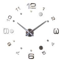 Wholesale Vintage Style Wall Clocks - Wholesale- 2016 New Vintage Wall Clock Modern Design Large Diy Acrylic Clocks Horloge Murale Quartz Watch 3d Stickers Brief Living Room
