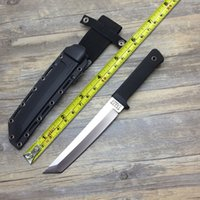 Wholesale Cold Steel Knife Recon - RECON TANTO SAN MAI Cold Steel Fixed Knives,9Cr18Mov Blade ABS Handle Sanding Outdoor Survival Knife.