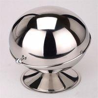 Wholesale Stainless Steel Sugar Bowls - Sugar Bowl Spherical stainless steel kitchen spice bottle flip cup sugar paste