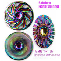Top Rainbow Fidget Spinner Toy Butterfly Fish Thor Egyptian Beatle Rotation Hand Spinners Axe de roulement en alliage EDC Finger Tip Spinning Toys