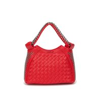 Wholesale Satchel Hobo Bags - Chinese manufacturing 2017 Korean fashion hand woven chain rivet Mini single shoulder bag, handbag, satchel is hot