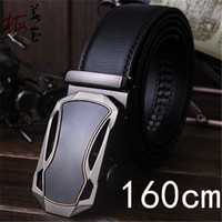 Wholesale Wholesale Men S Designer Belts - Wholesale- 160cm Automatic Belts For Men Famous Designer Brands High Quality Genuine Leather Belt Big Size Man Gold Strap Long Ceinture