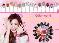 Wholesale art enamels - Top quality op nail polish Candy Color Easy Day Enamel Polish Nail Art Decoration Nails Nail Lacquer Art Salon Gel 150 colors free Fedex
