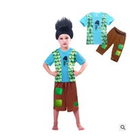 Wholesale Childrens Casual Wear - moana Two piece suit summer short sleeve Tshirt+ shout pants kids cartoon cloth Leisure wear Childrens pajamas suit
