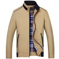 Wholesale Men S Jacket 7xl - Wholesale- Plus Size 3XL 4XL 5XL 6XL 7XL Fashion Big Size Jacket Men Spring and Autumn Brand Clothing Coat Office Men Dress 90