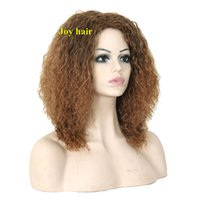 Wholesale Cheap Long Synthetic Hair Wigs - Free Shipping synthetic wigs for black Women Natural Cheap Long Curly hair wig Brown Kinky Afro synthetic Wigs of Natural Hair