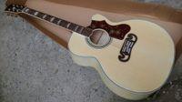 Wholesale Single Cutaway Guitar - Wholesale- New J200 single cut acoustic guitar SJ200N electric acoustic Guitar single cutaway Acoustic black hard shell