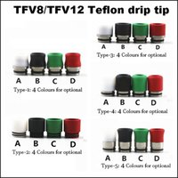 ss cover - TFV8 TFV12 wide bore Drip tip Teflon plastic Ss Mouthpiece drip tips cover mouth piece for smok G150 GX350 Stick v8 plus baby big tfv4 BRIT