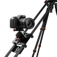 "Wholesale Camcorders Camera - New 100cm 40"" Carbon Fiber Four Bearing Video Track Slider Dolly Stabilizer System for DSLR Camera Camcorder Super Light By DHL"