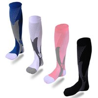 Wholesale New Unisex High Stretch Breathable Sports Socks Leg Support Anti Fatigue Compression Socks Pressure Circulation Quality Knee Orthopedic sock