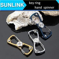 Wholesale Screw Toys - Fidget Spinner stainless steel keychain hand spinner edc adult decompression toys two leaves silent bearing finger screw
