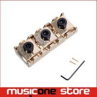 Wholesale electric guitar locking tremolo - 42.2mm Gold Electric Guitar Locking Nut for Floyd Rose Tremolo Bridge free shipping