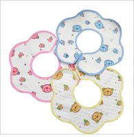 Wholesale Cotton Baby Bib Cartoon pattern Baby Bib Sets Newborn Gift Baby Accessories Handmade