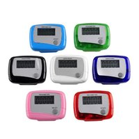 Wholesale Function Step - New Pocket LCD Pedometer Mini Single Function Pedometer Step Counter LCD Run Step Pedometer Digital Walking Counter with Package