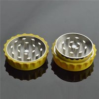 Cheap Two Layered Metal Herb Grinder Teeth Zinc Alloy Grinder Size 25*48mm for Tobacco CNC Super Quality Herbal Grinder Mix Design Grinders Sales