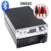 Freeshipping FX-Audio D802C senza fili Bluetooth Input USB / AUX / ottico / coassiale Amplificatore audio puro 24Bit / 192KHz 80W + 80W OLED