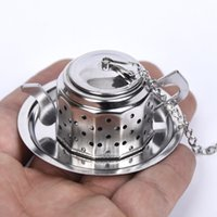 Wholesale teapot designs for sale - Group buy Tea Insulation Filter Stainless Steel Cute Teapot Type Love Handle Multi Function Teas Infuser Pendant Design Strainer Kitchen Tool xh F
