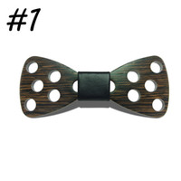 Wholesale Design Mens Bow Ties - 2017 New Design Brand Fashion Handmade Wood Bow ties Bowtie Butterfly Gravata Ties For Men DIY Dot Mens Wooden bow tie