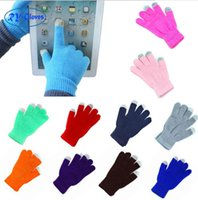 Wholesale Magic Multi Touch - New Winter Magic Touch Screen Gloves Smartphone Texting Stretch Adult One Size Winter Warmer Knit glove for men and women Factory price G223
